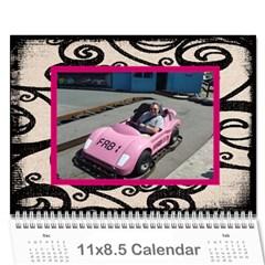 Fantasia Fab1 Classic Pink Frame 2015 Calendar By Catvinnat   Wall Calendar 11  X 8 5  (12 Months)   Z61edxrdesmj   Www Artscow Com Cover