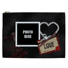 Love Xxl Cosmetic Bag 1 By Lisa Minor   Cosmetic Bag (xxl)   Gdomod1o7nc0   Www Artscow Com Front