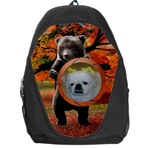 Bear Backpack Bag By Kim Blair   Backpack Bag   S78p8wqi6jn0   Www Artscow Com Front