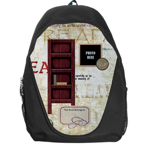 A Good Read Backpack 1 By Lisa Minor   Backpack Bag   Suxui78x30ig   Www Artscow Com Front