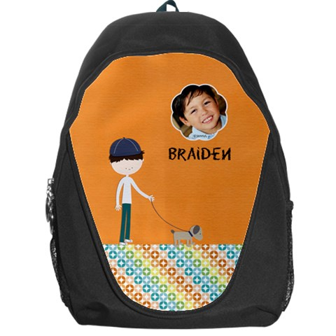 Backpack  Kid N Dog By Jennyl   Backpack Bag   Ybzsifoef4me   Www Artscow Com Front