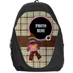 Sock Monkey Love Backpack 1 - Backpack Bag