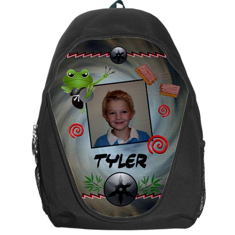 Ninja Frog Backpack Bag By Lmw   Backpack Bag   0ld1o7n08gxz   Www Artscow Com Front
