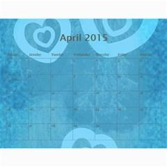 Calendar 2015 By Carmensita   Wall Calendar 11  X 8 5  (12 Months)   Cukxxh799akz   Www Artscow Com Apr 2015