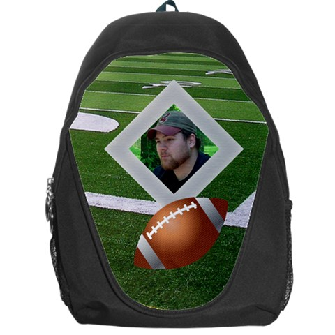 Football Backpack Bag By Kim Blair   Backpack Bag   7mizwtumqqf4   Www Artscow Com Front