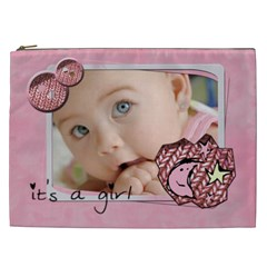 It s A Girl   Cosmetic Bag Xxl By Carmensita   Cosmetic Bag (xxl)   J8wkta780q6l   Www Artscow Com Front