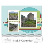 11 x 8.5 Blue,Green,Red Calendar 2015 - Wall Calendar 11  x 8.5  (12-Months)