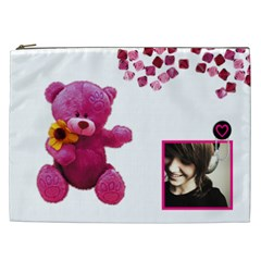 Teddy Bear   Cosmetic  Bag Xxl By Carmensita   Cosmetic Bag (xxl)   Y0d6p8m1pouw   Www Artscow Com Front