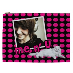 Me And You   Cosmetic Bag Xxl By Carmensita   Cosmetic Bag (xxl)   Iolcyp9ijkmt   Www Artscow Com Front