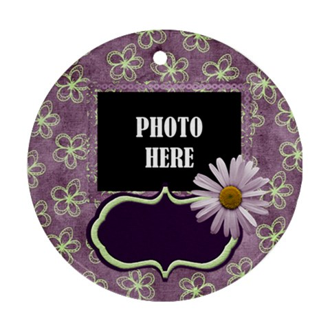 Lavender Rain Round Ornament 2 By Lisa Minor   Ornament (round)   Yfqvanceo4zs   Www Artscow Com Front