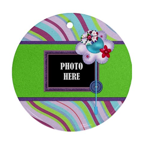 Monster Pary Round Ornament 2 By Lisa Minor   Ornament (round)   Qpn2exoav3h4   Www Artscow Com Front