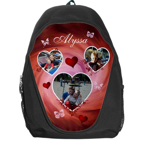 Backpack Bag   Hearts & Butterflies By Lmw   Backpack Bag   Kej4zxhrae92   Www Artscow Com Front