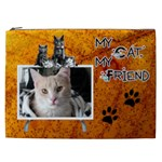 My Cat, My Friend XXL Cosmetic Bag - Cosmetic Bag (XXL)