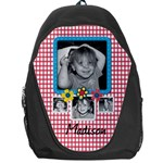 Backpack red checks - Backpack Bag