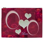 I Heart You Pink XXL Cosmetic Case - Cosmetic Bag (XXL)