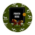 My Christmas Pony Ornament 2 - Ornament (Round)