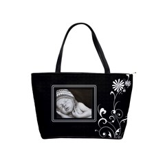 Black/white Classic Shoulder Handbag By Lil    Classic Shoulder Handbag   N7phqb0wzbba   Www Artscow Com Front