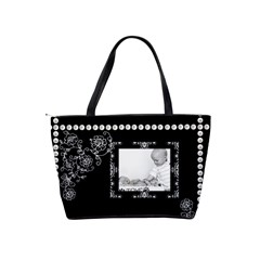 Black Pearl Classic Shoulder Handbag By Lil    Classic Shoulder Handbag   Ivm6om4nm8q2   Www Artscow Com Back