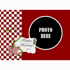 Christmas Clusters 5x7 Greeting Card 1 By Lisa Minor   5  X 7  Photo Cards   1k6h6kgfqof6   Www Artscow Com 7 x5 Photo Card - 7