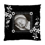 Black and White Cushion Case (2 sided) - Standard Cushion Case (Two Sides)