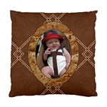 Brown Cushion Case (2 Sided) - Standard Cushion Case (Two Sides)