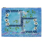 Spring flower floral blue Cosmetic Case XXL - Cosmetic Bag (XXL)