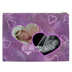 I Heart You Love Lavender Purple Cosmetic Case Xxl By Ellan   Cosmetic Bag (xxl)   C3b7ys904a4u   Www Artscow Com Back