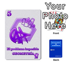 Departamento De Matemáticas By Matematicaula   Playing Cards 54 Designs (rectangle)   Pbuyvyrkti9o   Www Artscow Com Front - Club10