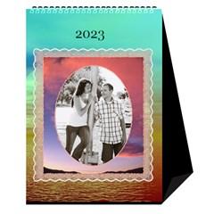 Sunset Desktop Calendar 6 x8 5  By Lil    Desktop Calendar 6  X 8 5    24rfiv9a0h4l   Www Artscow Com Cover