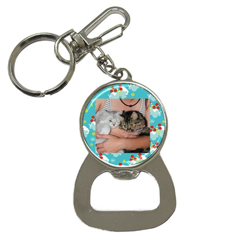 Cats By Chen,szu Ling   Bottle Opener Key Chain   16wejjy63bpg   Www Artscow Com Front