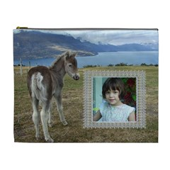Horse Cosmetic Bag (xl) By Kim Blair   Cosmetic Bag (xl)   Wikbibvbqqm4   Www Artscow Com Front