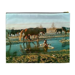 Horse Cosmetic Bag (xl) By Kim Blair   Cosmetic Bag (xl)   Wikbibvbqqm4   Www Artscow Com Back