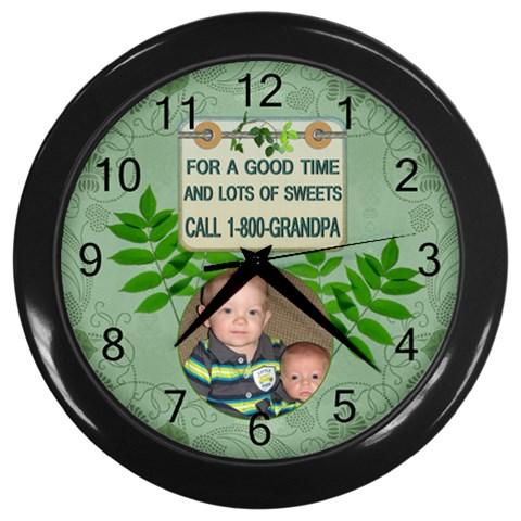 Grandpas Wall Clock By Lil    Wall Clock (black)   U5itzlf3xk9q   Www Artscow Com Front