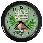 Grandpas Wall Clock - Wall Clock (Black)