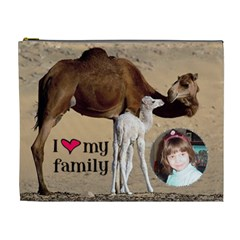 Camel Cosmetic Bag (xl) By Kim Blair   Cosmetic Bag (xl)   Qh0m8k6a1p2v   Www Artscow Com Front