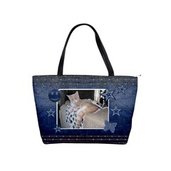 Denim Classic Shoulder Handbag By Lil    Classic Shoulder Handbag   Bimwe75behs3   Www Artscow Com Front
