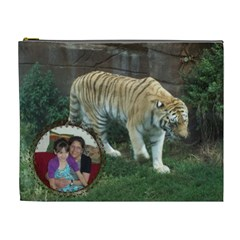Tiger Cosmetic Bag 2 Sides (xl) By Kim Blair   Cosmetic Bag (xl)   Egnqa8eei072   Www Artscow Com Front