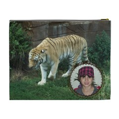 Tiger Cosmetic Bag 2 Sides (xl) By Kim Blair   Cosmetic Bag (xl)   Egnqa8eei072   Www Artscow Com Back