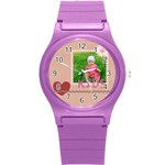 kids - Round Plastic Sport Watch (S)
