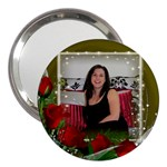 Red Roses 3  Handbag Mirror