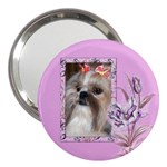 Pink Iris 3  Handbag Mirror
