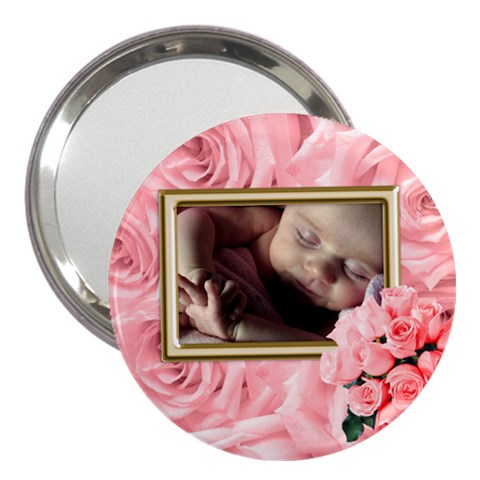 Roses For You 3  Handbag Mirror By Deborah   3  Handbag Mirror   V1gkaxx9gx3o   Www Artscow Com Front