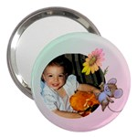 mummy girl 3  Handbag Mirror