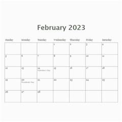 Classic Swirly Grunge  2015 Calendar  By Catvinnat   Wall Calendar 11  X 8 5  (12 Months)   4qu2csduivrh   Www Artscow Com Feb 2015