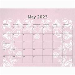 Art Nouveau Pink Calendar 2019 By Catvinnat   Wall Calendar 11  X 8 5  (12 Months)   6vbjtzockuij   Www Artscow Com May 2019