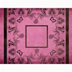 Art Nouveau Pink Calendar 2019 By Catvinnat   Wall Calendar 11  X 8 5  (12 Months)   6vbjtzockuij   Www Artscow Com Month