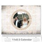 art nouveau antique lace 2015 calendar - Wall Calendar 11  x 8.5  (12-Months)
