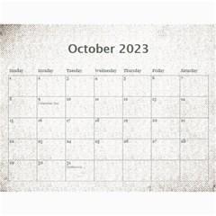 Art Nouveau Antique Lace 2015 Calendar By Catvinnat   Wall Calendar 11  X 8 5  (12 Months)   3lhaf1xh59io   Www Artscow Com Oct 2015