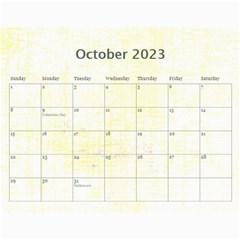 Cupcake Lemon Frosting 2015 Calendar By Catvinnat   Wall Calendar 11  X 8 5  (12 Months)   655nhfv8ybpv   Www Artscow Com Oct 2015