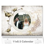 Je Taime I Love You 2015 calendar - Wall Calendar 11  x 8.5  (12-Months)
